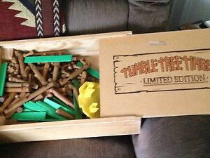 Tumble Tree Timbers Building Logs Set w/ Limited Edition Wooden Storage Box