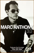 MARC ANTHONY 3.0 Ltd Ed Discontinued RARE Poster +FREE Pop/Latin/Dance Poster!