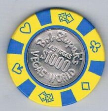 Vegas World $1,000.00 Coin Center Bob Stupak Casino Chip Las Vegas Nevada