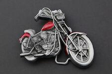 RED 3D MOTORCYCLE BELT BUCKLE METAL BIKER BIKE