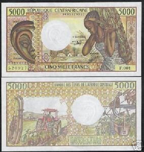 Image Is Loading Central African Republic 5000 Francs P12 1984 Mine