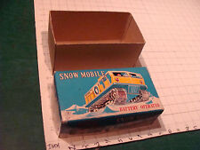 vintage original toy box: SNOW MOBILE Battery operated toy box ONLY, modern toys