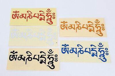 Acquista A Buon Mercato Magnifici Trasparenti Om Mani Padme Hum Adesivi Meditazione Buddismo Buddha Budda-