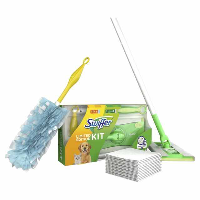 Swiffer Pack 1 Balai 8 Recharges 1 Manche Plumeau 1 Recharge Plumeau