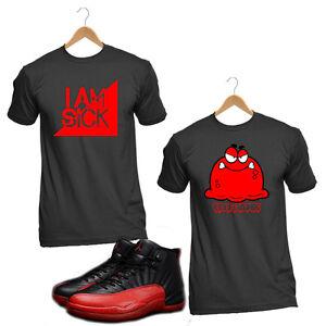 b60f63be1f45 Flu Game 2016 Air Jordan 12 T4H Custom Sneaker Matching Red and ...