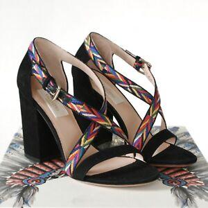 VALENTINO-GARAVANI-embroidered-shoes-native-american-high-heel-sandals-35-NEW