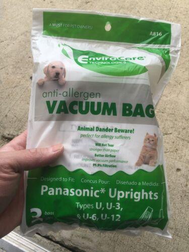 Hepa Allergy Upright Cloth Vacuum bags Panasonic U U2 U3 U6 U10 3 //pkg
