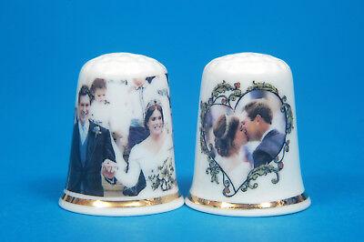 Princess Eugenie /& Jack Royal Wedding 2018 Set of 2 China Thimbles B//182