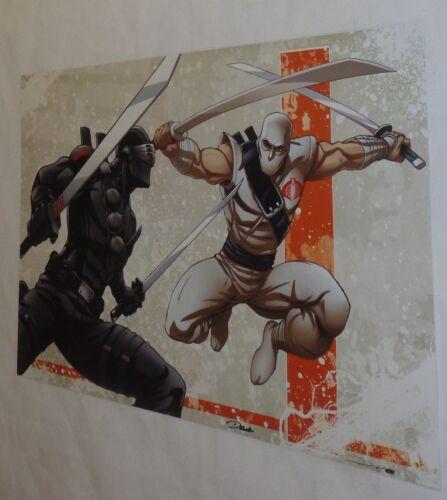 GI Joe ARAH Storm Shadow Snake Eyes 1985 Version Poster 11x17 Art FREESHIP