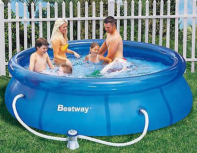 Bestway 57109 Swimmingpool rund Pool Fast Set mit Filterpumpe 305x76 cm