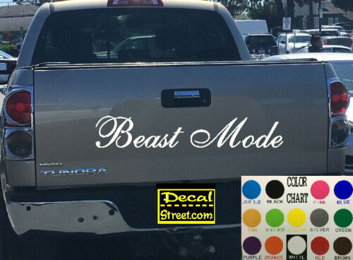 Beast Mode Die Cut Tailgate Vinyl Decal Sticker Diesel truck SUV 4x4