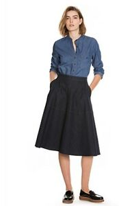 CR-LOVE-SZ-XS-8-NEW-COUNTRY-ROAD-DENIM-CIRCLE-SKIRT-Indigo