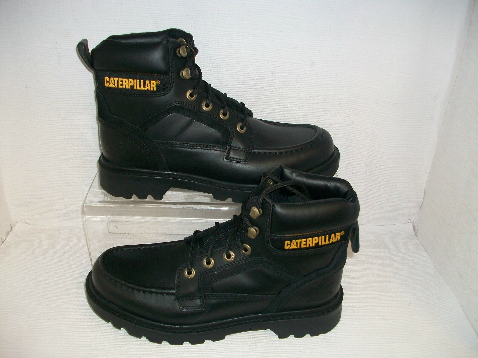 Hombre Caterpillar Transpose Cuero Negro Zapatillas Informales con Cordones
