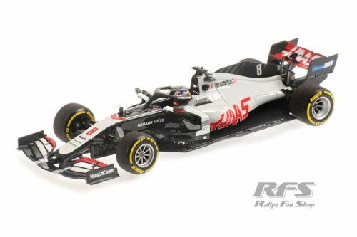 Haas VF-20 Ferrari 065 Romain Grosjean Formel 1 Launch 2020 1:43 Minichamps NEU