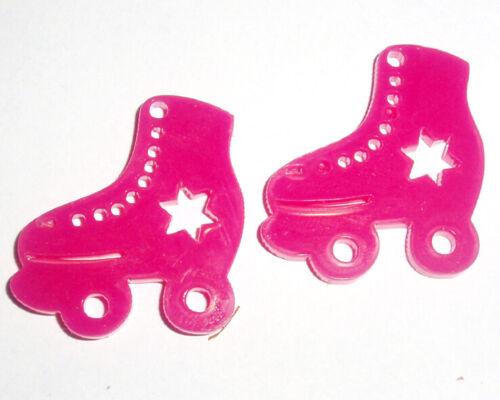 80s Retro Roller Skate Roller Derby Earrings Star Design Kitsch Kawaii