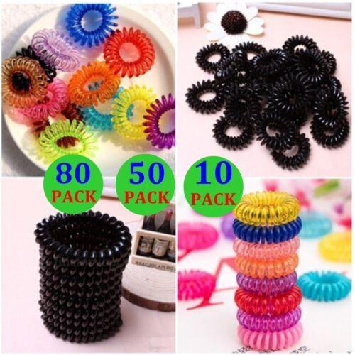 80//50*Fashion Women Girl Colorful Elastic Hair Band Rope Ponytail Holder Lot