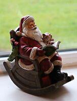 Santa Musical Box Moving & Playing Rocking Chair Ornament Figurine Christmas