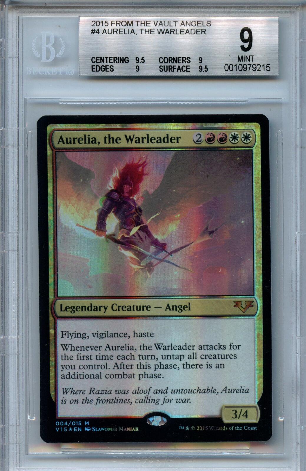MTG Aurelia the the the Warleader BGS 9  FTV Angels Magic Mystic Foil Amricons 9215 1f688c