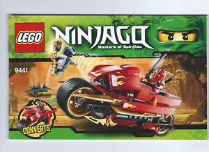 Lego instruction booklet - Ninjago Masters of Spingitzu: Kai's Blade Cycle 9441