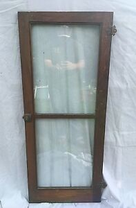Details about Vtg 1920\'s Brown Cabinet Bookcase Kitchen Pantry Doors 18x44  117-18C
