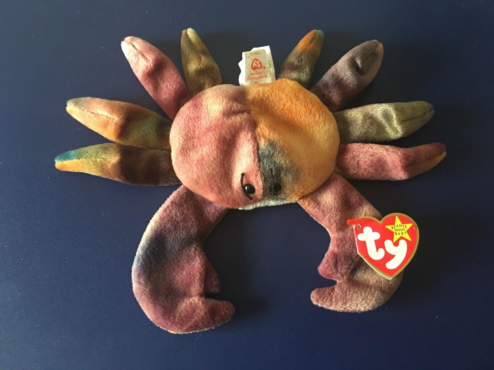 Ty - original beanie baby - claude crab 1996 - fehler - und selten