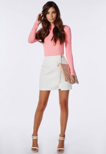 MISSGUIDED Long sleeve Jersey Turtle Neck in Peach M10