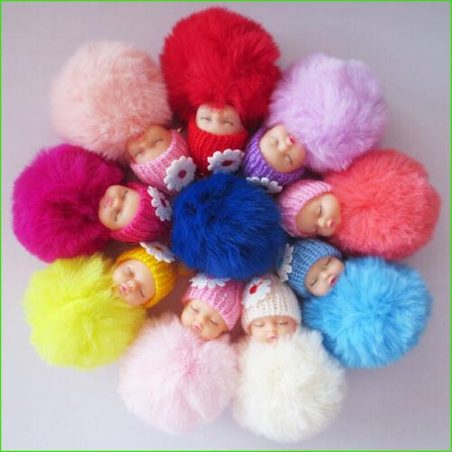 4 BLESSING Women Girl Fashion Sleep Doll Key Chain Rex Rabbit Floss Ice Cream