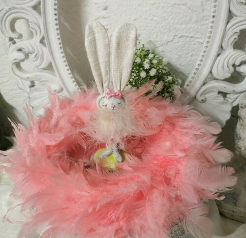 Federkranz Osterkranz Pink Federn Ostern Kranz 25cm Shabby Chic Vintage Landhaus