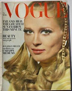 1968 Faye Dunaway Vogue 60s vintage fashion magazine Bailey Helmut Newton May