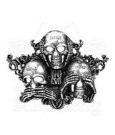 NO EVIL buckle Alchemy Gothic