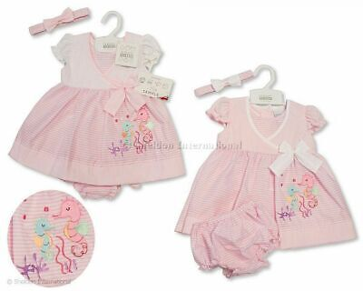 Nursery Time with Tags Tiny Baby Reborn Premature Preemie Girls Pretty Floral Summer Dress Set