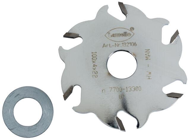 Lamello Hartmetall Nutfräser für Classic D 100 mm Fräser 132106