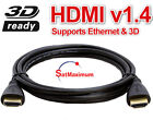 6FT HDMI CABLE For BLURAY 3D DVD PS3 HDTV XBOX LCD HD TV 1080P PREMIUM SALE