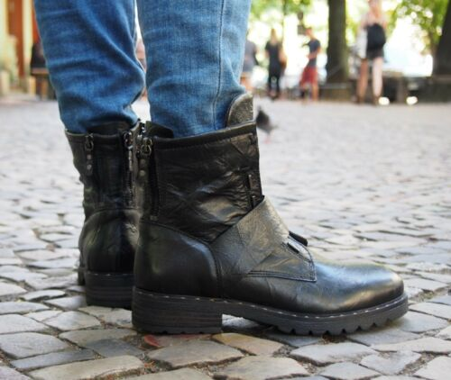 MJUS Schuh Pepes Nero black 190206 Damen Stiefelette Echtleder Winterschuhe neu