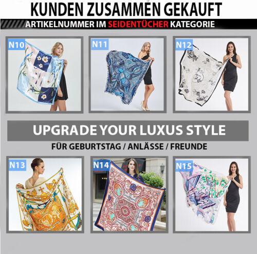 Designer Seidentuch Schal Halstuch Multifunktionstuch 90x90 cm Frauen Damen N20