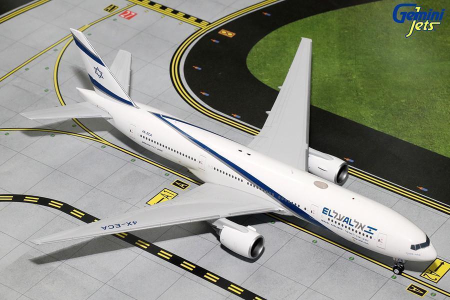 El al Boeing 777-200ER 4X-ECA Gemini Jets G2ELY472 escala 1 200