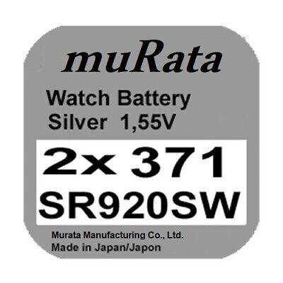 5x Renata 373 Uhren-Batterie Knopfzelle SR916SW 1,55V Silberoxid Neu