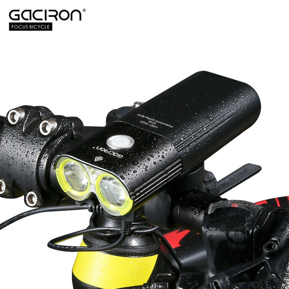 New GACIRON V9D - 1600 USB Rechargeable Bicycle Front Flashlight Remote Switch