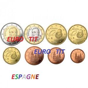 ESPAGNE   2001        LA  SERIE   DES  8  PIECES   2001     SUPERBES