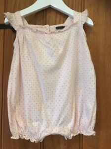 Baby Gap Adorable Rose Tout En Un Âge 6-12 Mois 100% Coton-afficher Le Titre D'origine