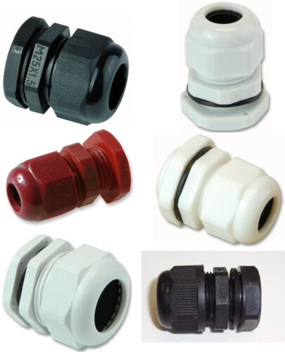 Pro Power IP68 Nylon Cable Gland METRIC M12 M16 M20 M25 M32 M40 M50