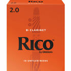 Rico Bb Strength 2.0 Clarinet Reeds - 10-Pack (RCA1020)