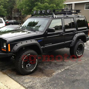 Jeep Cherokee Xj >> Details About For 1984 1996 Jeep Cherokee Xj 4dr 5 Wide Offroad Pocket Rivet Fender Flares