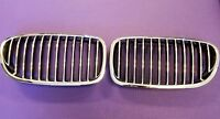 Bmw 5 Series F10 11-16 Front Grille Grill Chrome / Chrome-black Pair