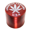 Four Piece Metal Red w//white Herb /& Tobacco Grinder