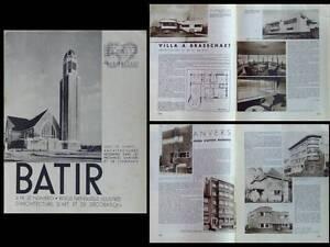 Batir N°52 1937 Antwerpen Limbourg Hasselt Anvers Brasschaat Waterschei Turnhout Top PastèQues