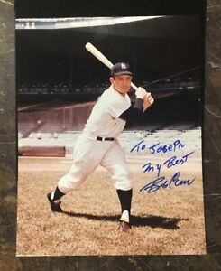 BOB-CERV-AUTOGRAPHED-SIGNED-AUTO-BASEBALL-PHOTO-8x10-YANKEES