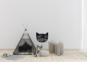 Crazy-Gato-Bebe-Inspirado-Diseno-Divertido-Hogar-Decoracion-Pared-Arte-Calcomania-Vinilo-Sticker