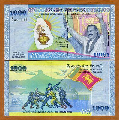 Commemorative Sri Lanka 1000 1,000 Rupees UNC 2009 P-122