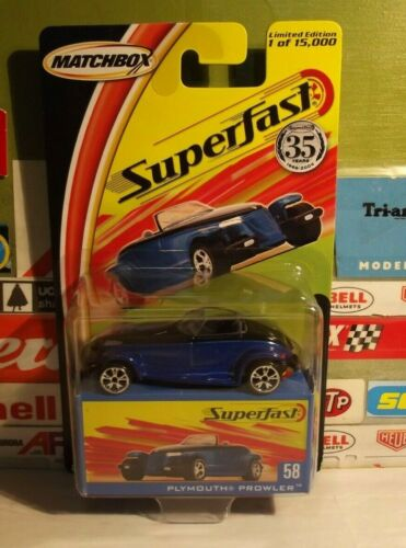 Details about  /MATCHBOX SUPERFAST 35 YEARS 1:64 BLUE PLYMOUTH PROWLER #58 H2357